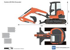 Kubota U55 Mini Excavator