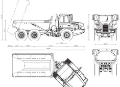 Bell Hitachi B25D Articulated Dump Truck