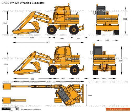 Templates construction equipment case case wx125 for Construction equipment list template