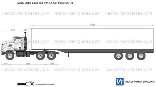 Mack Metro-Liner 6x4 with 48-feet trailer