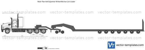 Mack Titan 8x6 Superliner 46-feet Mid-rise Low Loader