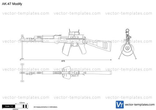 Templates - Weapons - Rifles - AK-47 Modify on
