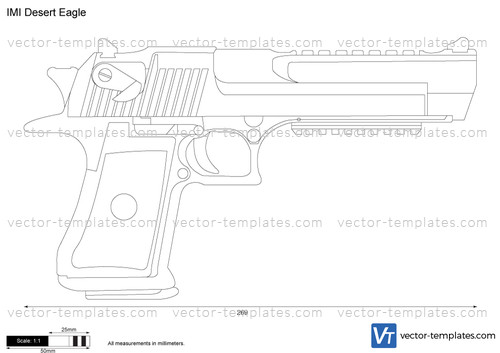 templates weapons pistols imi desert eagle