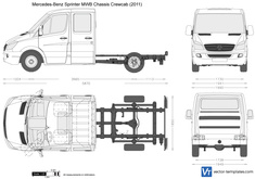 Mercedes-Benz Sprinter MWB Chassis Crewcab