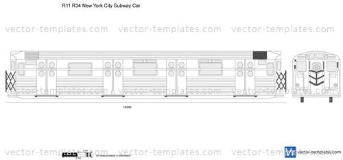 R11 R34 New York City Subway Car