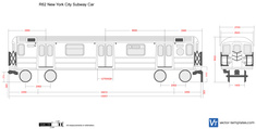 R62 New York City Subway Car