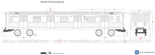 R68 New York City Subway Car