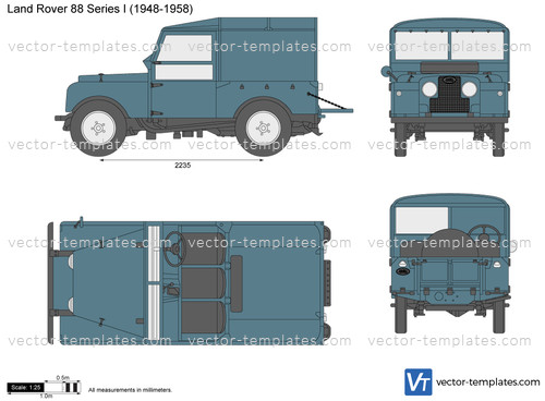Templates Cars Land Rover Land Rover 88 Series I