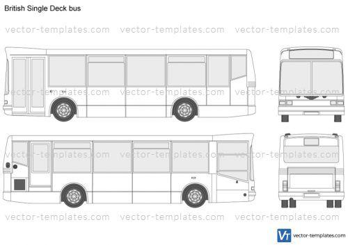 templates buses various buses british single deck bus