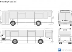 British Single Deck bus