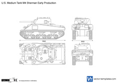 U.S. Medium Tank M4 Sherman Early Production