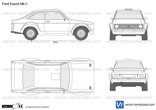 Templates - Cars - Ford - Ford Escort Mk II