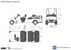 EZGO Shuttle 4 6 Golf Cart