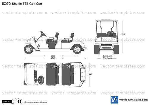 templates cars various cars ezgo shuttle te5 golf cart