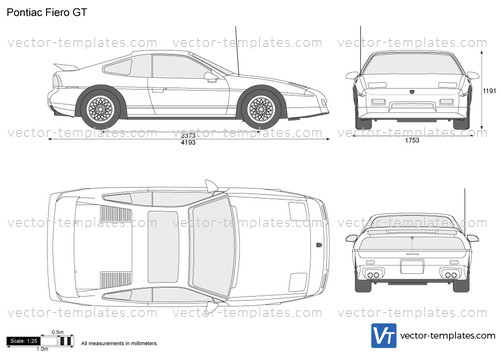 Templates Cars Pontiac Pontiac Fiero Gt