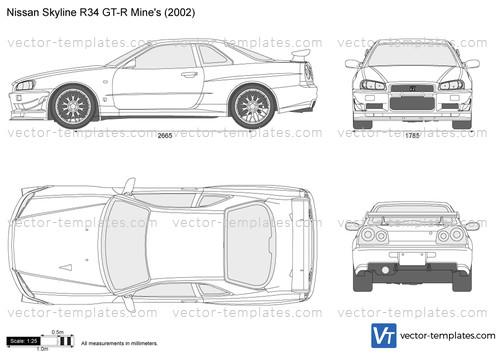 Templates Cars Nissan Nissan Skyline R34 Gt R Mine S