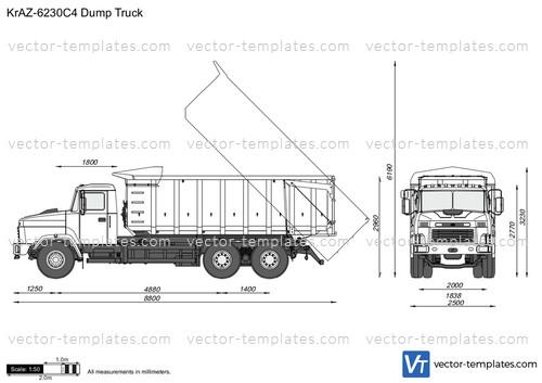 templates - trucks - kraz