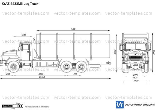 KrAZ-6233M6 Log Truck