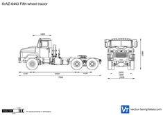 KrAZ-6443 Fifth-wheel tractor