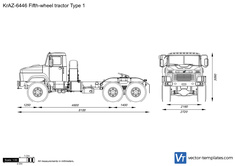 KrAZ-6446 Fifth-wheel tractor Type 1