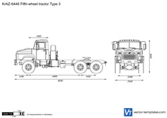 KrAZ-6446 Fifth-wheel tractor Type 3