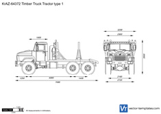 KrAZ-64372 Timber Truck Tractor type 1