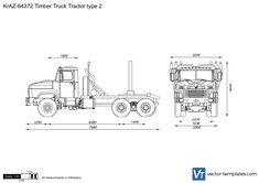 KrAZ-64372 Timber Truck Tractor type 2