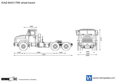 KrAZ-64431 Fifth wheel tractor