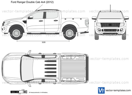 Templates Cars Ford Ford Ranger Double Cab 4x4