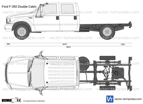 Ford Transit 250 >> Templates - Cars - Ford - Ford F-350 Double Cabin Chassis