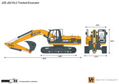 JCB JS210LC Tracked Excavator