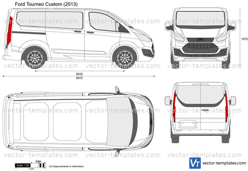 templates cars ford ford tourneo custom swb. Black Bedroom Furniture Sets. Home Design Ideas