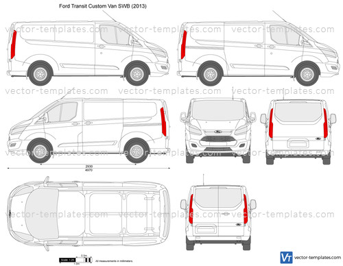 Templates Cars Ford Ford Transit Custom Swb L1h1