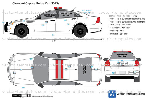 templates cars chevrolet chevrolet caprice police car
