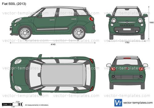 Templates Cars Fiat Fiat 500 L