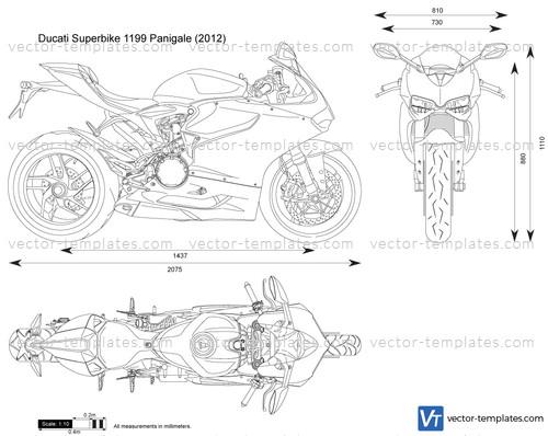 Templates Motorcycles Ducati Ducati Superbike 1199