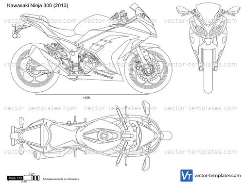 templates - motorcycles - kawasaki