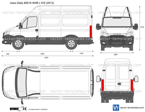 Templates - Cars - Iveco - Iveco Daily 40S14 SWB L1H2