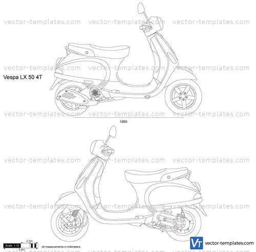 templates motorcycles vespa vespa lx 50 4t. Black Bedroom Furniture Sets. Home Design Ideas
