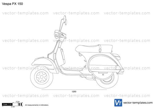 Templates Motorcycles Vespa Vespa Px 150