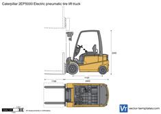 Caterpillar 2EP5000 Electric pneumatic tire lift truck