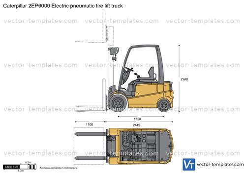 Caterpillar 2EP6000 Electric pneumatic tire lift truck