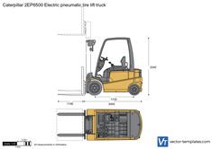 Caterpillar 2EP6500 Electric pneumatic tire lift truck