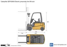 Caterpillar 2EPC6000 Electric pneumatic tire lift truck