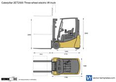 Caterpillar 2ET2500 Three-wheel electric lift truck