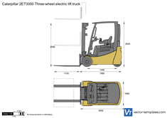 Caterpillar 2ET3000 Three-wheel electric lift truck