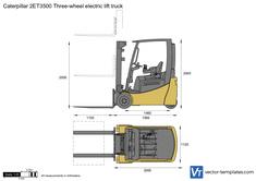 Caterpillar 2ET3500 Three-wheel electric lift truck
