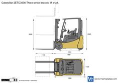 Caterpillar 2ETC3500 Three-wheel electric lift truck