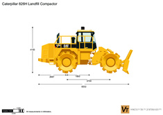 Caterpillar 826H Landfill Compactor