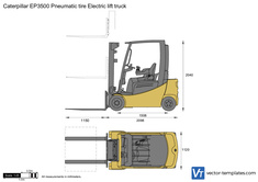 Caterpillar EP3500 Pneumatic tire Electric lift truck